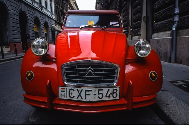 A red car in Hungary